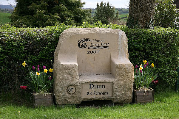 Clones Erne East - Drum Village Stone Chair
